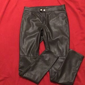 H&M Divided faux leather pants - black size 10 EUC